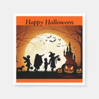 Halloween Trick or Treat Pumpkin Kids Party Napkin Paper Serviettes