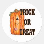 Halloween Trick Or Treat Pumpkin Stickers
