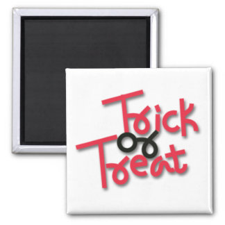 Halloween Trick or Treat Red & Black Refrigerator Magnets