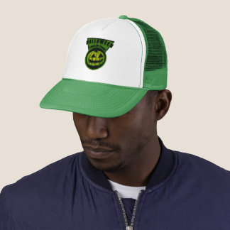Halloween -Trick Or Treat Triangle Green Trucker Hat