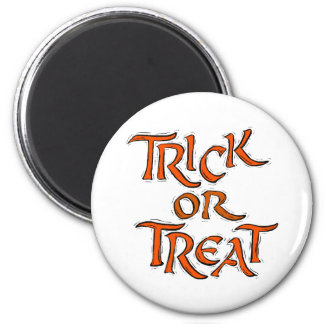 Halloween Trick or Treat Words Fridge Magnets