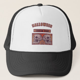Halloween -Trick Or Treat Worn Trucker Hat