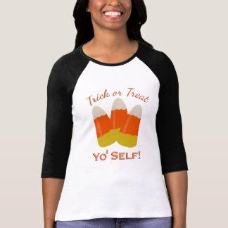 Halloween Trick or Treat Yo Self Candy Corn T-Shirt