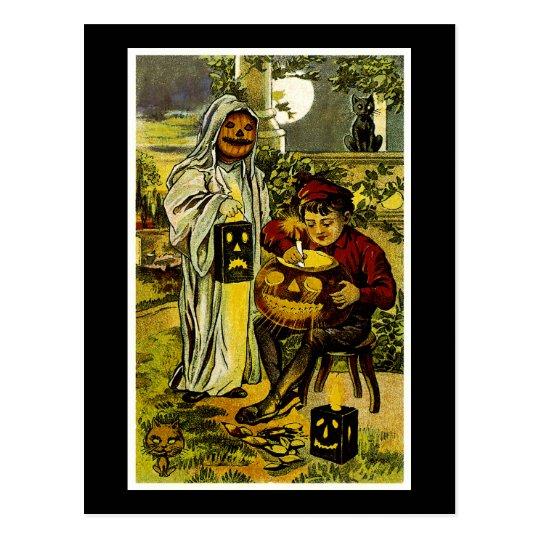 Halloween Trick or Treaters Postcard