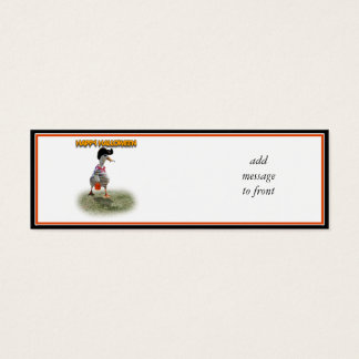 Halloween Trick or Treating Pirate Duck Mini Business Card