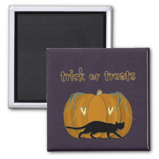 Halloween' trick or treats goodies square magnet