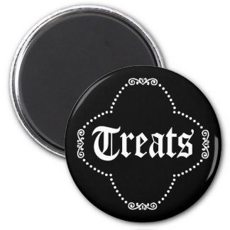 Halloween Tricks and Treats 6 Cm Round Magnet