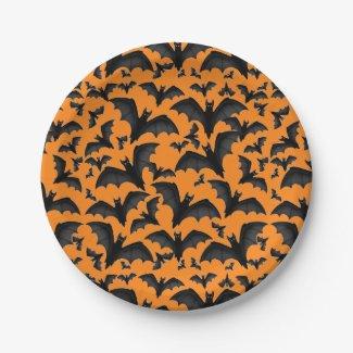 Halloween Vampire Bats Paper Plates