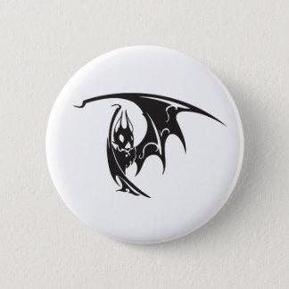 Halloween Vampire Bats Tattoo Style Artwork Black 6 Cm Round Badge