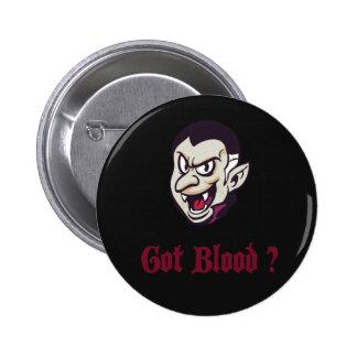Halloween Vampire Got Blood Button