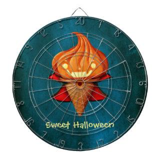 Halloween Vampire Pumpkin Ice Cream Dartboard