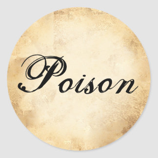 Halloween vintage alchemy poison potion label