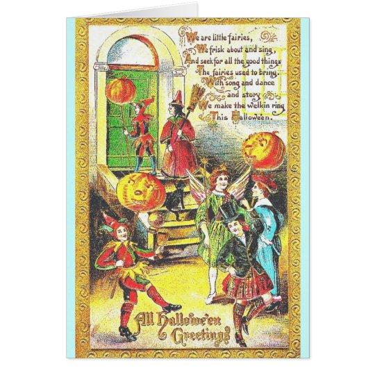 Halloween Vintage Colour Card