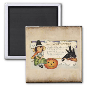 Vintage Halloween Witch And Moon Kitchen & Dining Supplies | Zazzle