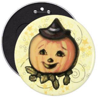 Halloween Vintage Jack O Lantern Button