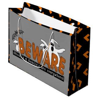 Halloween Warning large gift bag