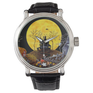 Halloween,watch,ghosts,graveyard,cats,witch Watches