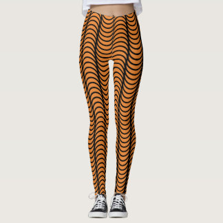 Halloween Wavy Line Leggings