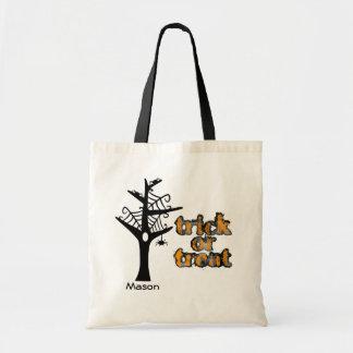 Halloween Web Tree Personalised Tote Bag