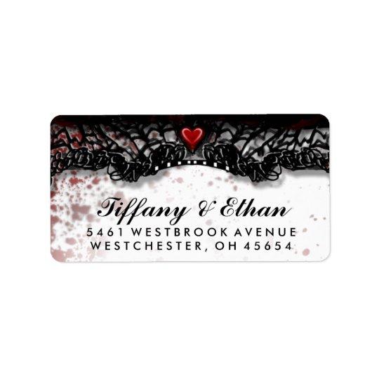 Halloween Wedding Blood Splatter Address Label
