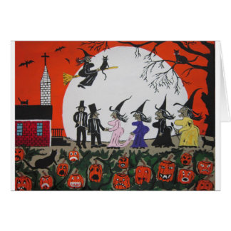 Halloween Wedding Card