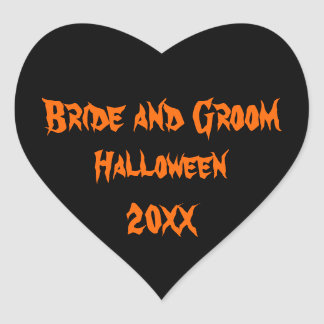 Halloween Wedding Heart Sticker