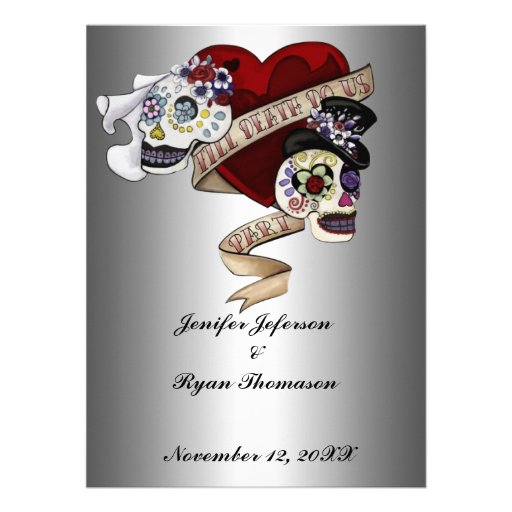 halloween wedding Invitation Personalized Invitation