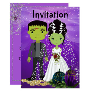 Halloween Wedding Invitation with Bride