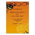 Halloween Wedding Program