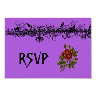 Halloween Wedding RSVP 9 Cm X 13 Cm Invitation Card