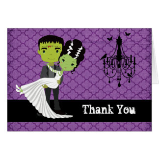 Halloween Wedding Thank You Bride of Frankenstein Card