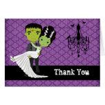 Halloween Wedding Thank You Bride of Frankenstein Note Card