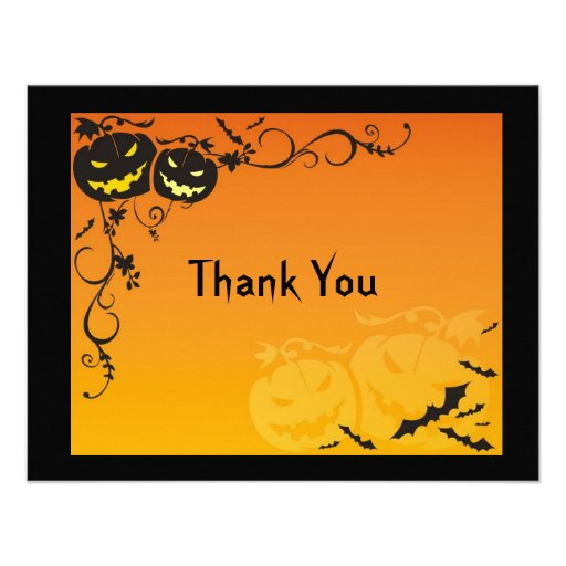 halloween wedding thank you cards custom invitation