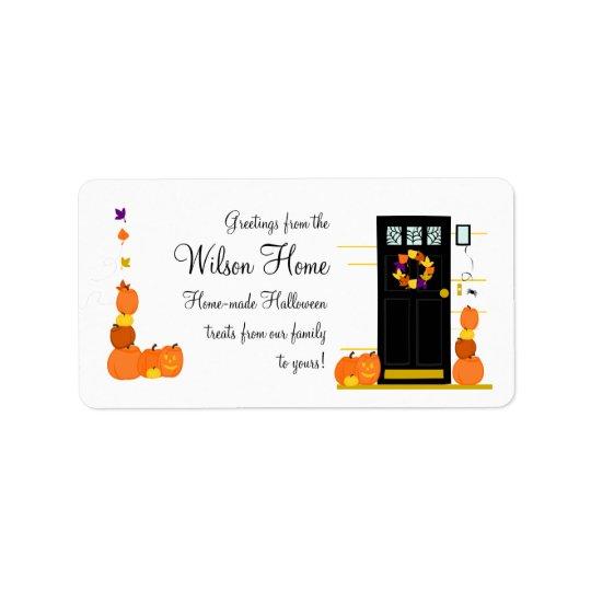 Halloween Welcome Label
