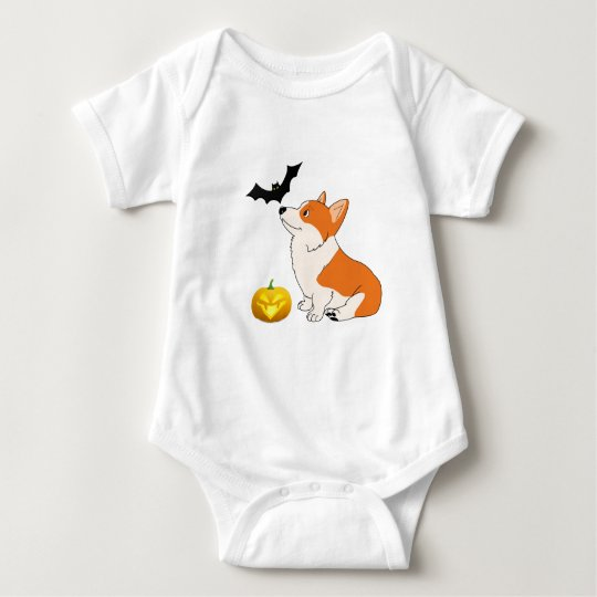 Halloween Welsh Corgi Baby Bodysuit
