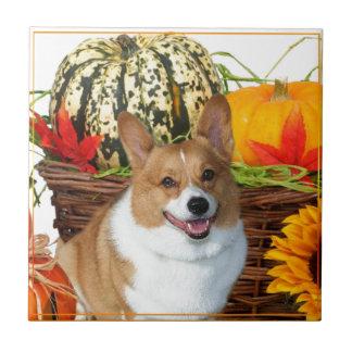 Halloween Welsh Corgi dog Small Square Tile