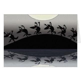 Halloween Werewolves Card