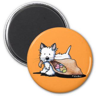 Halloween Westie Dog Cat Fridge Magnet