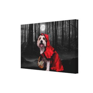 Halloween - Westie - Lady Canvas Print