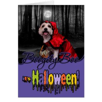 Halloween - Westie - Lady Greeting Cards