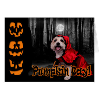 Halloween - Westie - Lady Greeting Cards