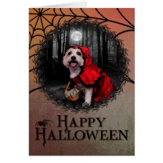 Halloween - Westie - Lady Stationery Note Card
