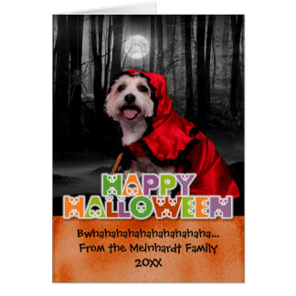 Halloween - Westie - Lady Greeting Card