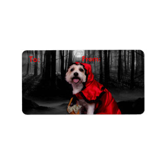 Halloween - Westie - Lady Address Label