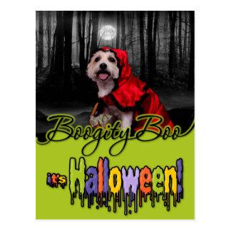 Halloween - Westie - Lady Post Card