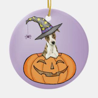 Halloween Whippet Christmas Ornament