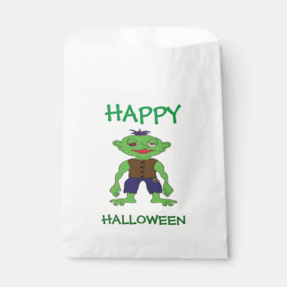 Halloween White Favor Bags/Monster Favour Bags