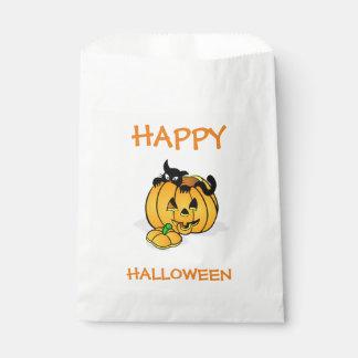 Halloween White Favor Bags/Pumpkin Favour Bags
