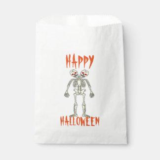 Halloween White Favor Bags/Skeleton Favour Bags