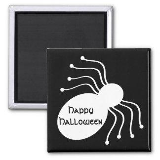 Halloween White Spiders on Black Magnet